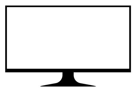 tv lcd wide screen isolated on white, blank screen display flat television digital, modern television display for design