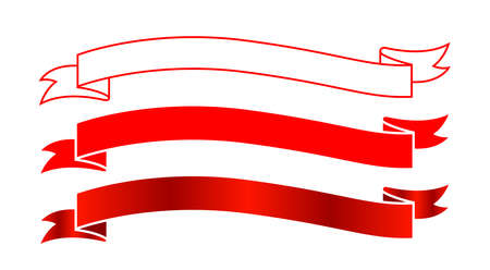 ribbon label red for decoration banner, ribbon sticker frame for tag label decorative, ribbon badge sign set