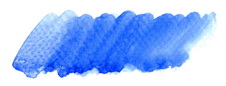 blue watercolor brush stain, marker scribble water color paint on white, shades of blue for horizontal watercolour background