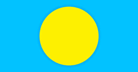 circle yellow on light blue for banner simple background, copy space, paper circle yellow and light blue color for background