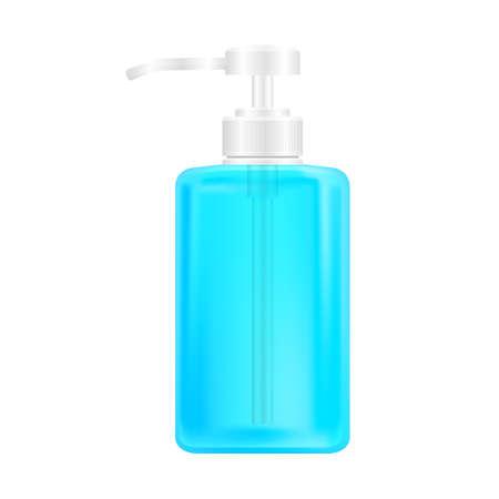 hygiene bottle hand gel isolated on white, alcohol liquid gel bottle, packaging soap gel bottle for clip art 矢量图像