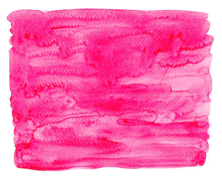 watercolor magenta pink paint for background, watercolor texture magenta color on white paper