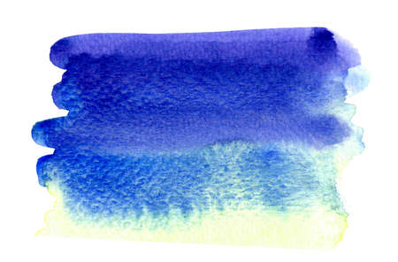 watercolor blue stain for background, watercolor light blue texture on white paper background