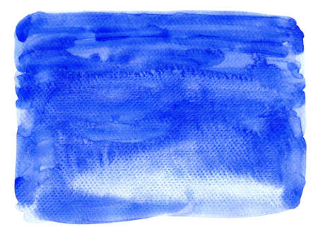 watercolor blue stain for background, watercolor light blue texture on white paper 免版税图像