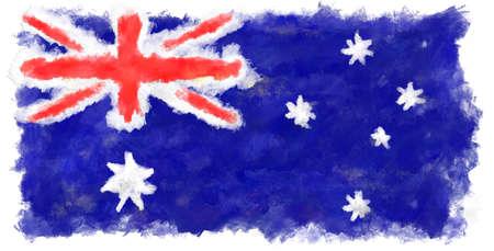 australian culture:  Painted Australian Flag
