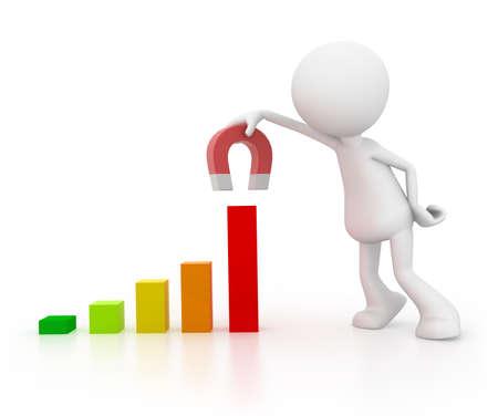 bar magnet: Improve Sales Stock Photo