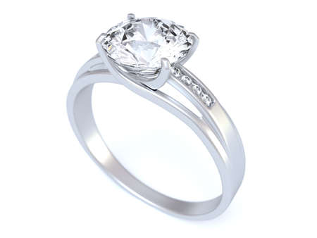 diamond shaped: Wedding Ring Stock Photo