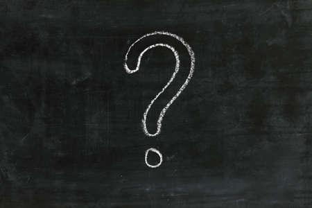 signo de interrogacion: Signo de interrogación en la pizarra