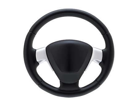 3d rendering wheel: Steering wheel