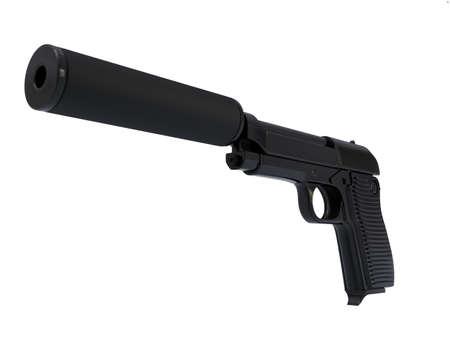 the silencer: Gun with silencer
