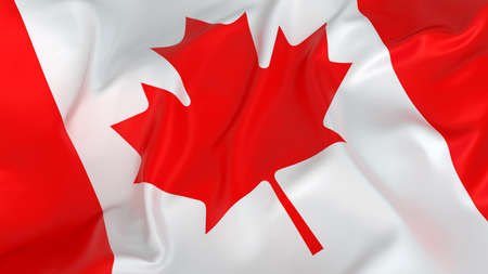 canadian flag:  Glossy Canadian Flag