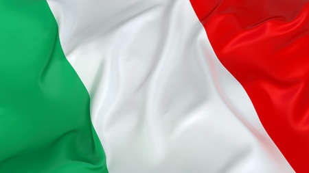 italian flag: Majestic bandera italiana