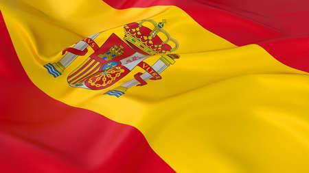 Majestic Spanish Flag photo