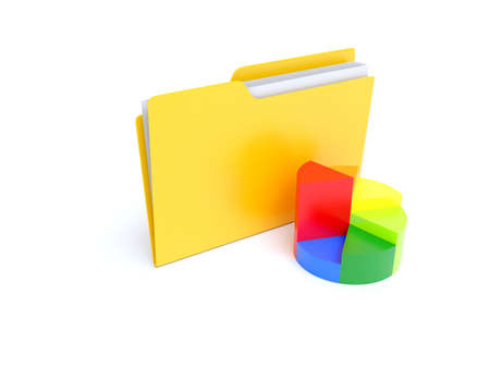 coloured background: develop documents Stock Photo