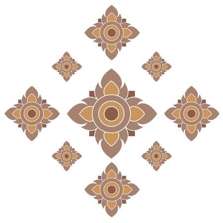 thai buddha: Graphic pattern in traditional Thai style art
