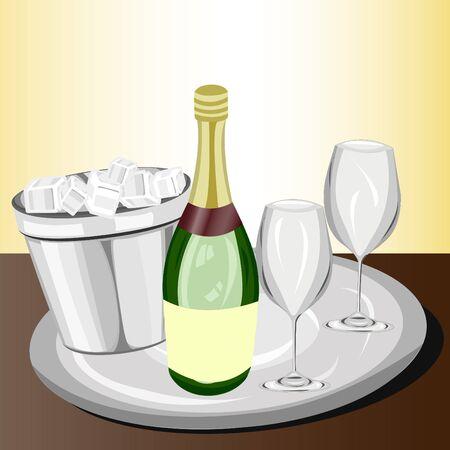 celebration: Celebration with champagne