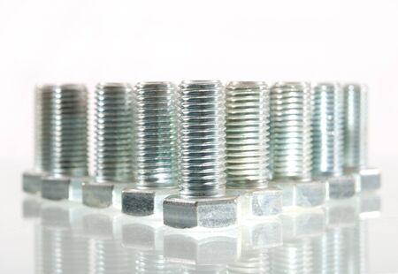 standard steel: Bolts Stock Photo