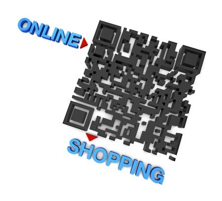 up code: QR code online Shopping Stock Photo
