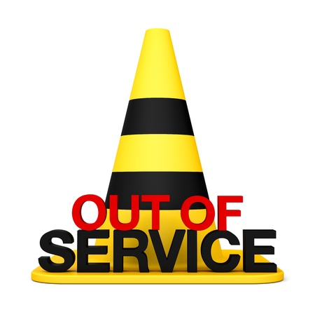 Out fo service 3d sing Stop symbol danger