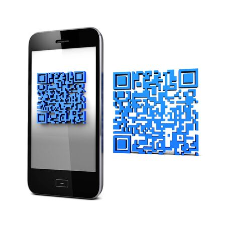 QRcode Mobile Phone Online connect  Business Imformation Stock Photo - 15812962