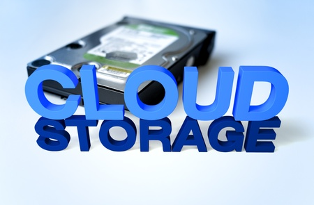 3D render and Photo Compose Clound computing Storage  Stock Photo