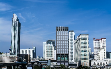Cityscape view office buildings of Bangkok ,Thailand photo