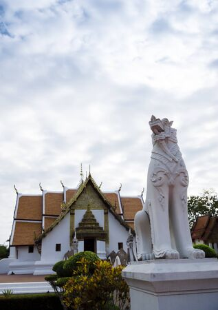 Wat pumin temple Nan, Thailand and cloudy sky. Stock Photo