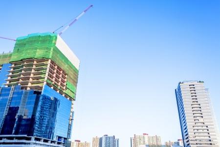Bangkok under construction Building background for concept idea