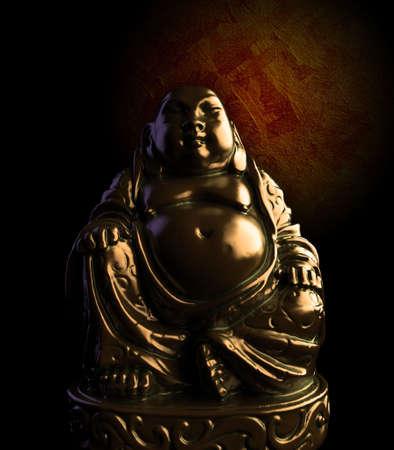 Meditating Bronze Buddha Statue