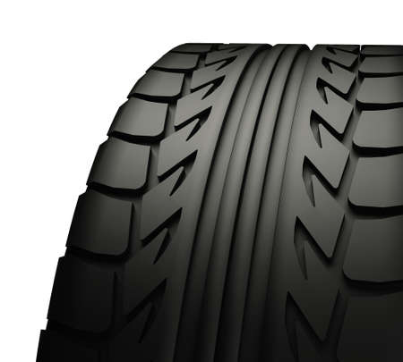 Tyre Tread closeup isolated on white