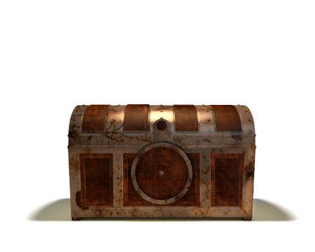 Treasure chest closed on white background Stock Photo - 11371810