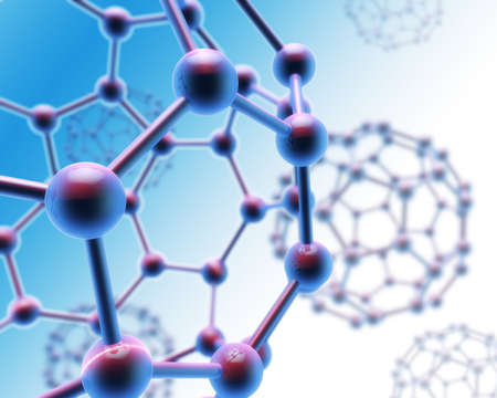Abstract Carbon Molecule Structure Stock Photo - 11371805