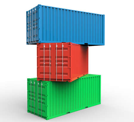 container: Stack of cargo containers