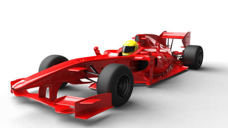 Red formula race car