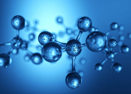 Abstract molecule structure blue