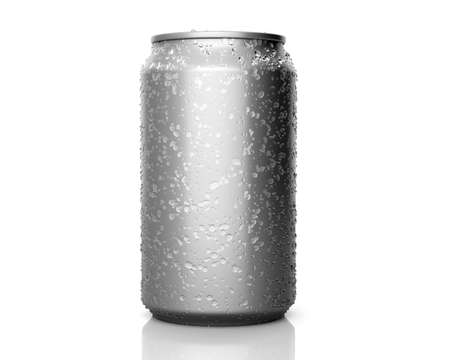 Isolated soda can with condensation Reklamní fotografie