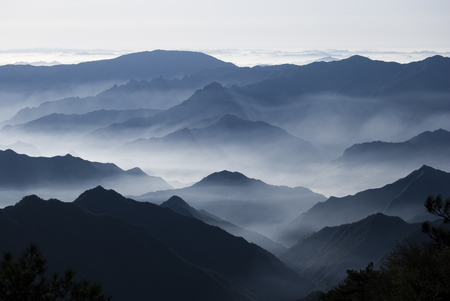 Scenic view of the mountains Stock Photo
