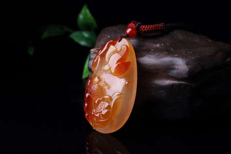 Carnelian southern Red Agate Pendant Stock Photo
