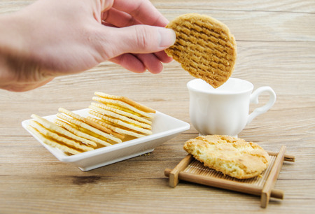 snack: Biscuits snack Stock Photo