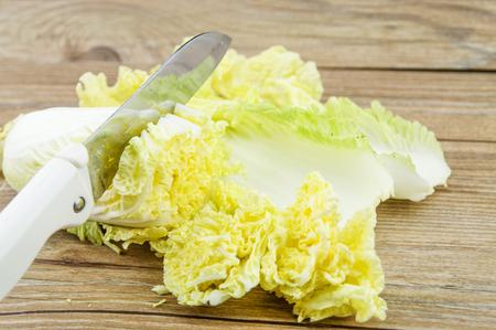 the cut: Cut cabbage