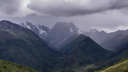 physical geography: Bai Mang snow mountain Stock Photo