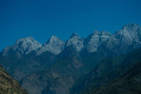 sierra snow: The snow capped mountains Stock Photo