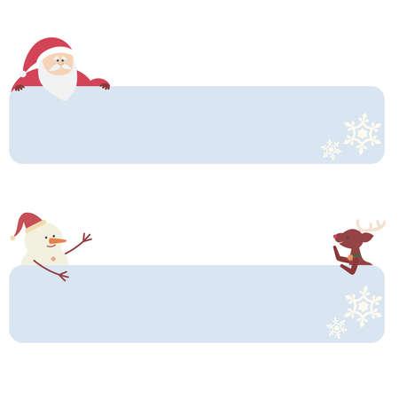 Cute Christmas character frame snowflake