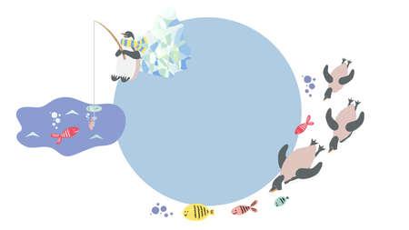 Penguins frame 矢量图像