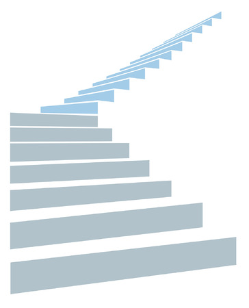height: stair as a symbol of height is in infographic