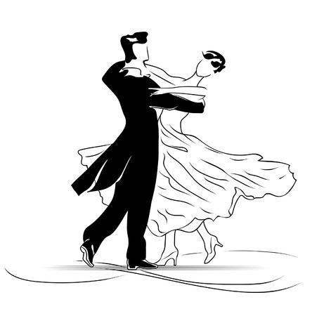 waltz: A waltz is dance of falling in love Illustration