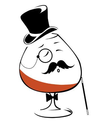 Cognac - pić tych arystokratów Ilustracje wektorowe