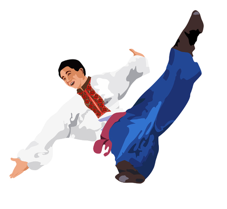 cossacks: Dancer performs jump