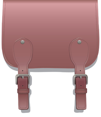 buckles: Leather small straps with buckles on a white background Illustration
