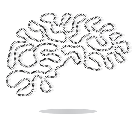 programmable: A brain of man is a logical programmable block Illustration